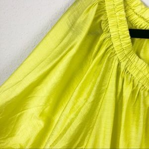 Anthropologie Tops - Maeve Leonie One Shoulder Top Chartreuse Sheen
